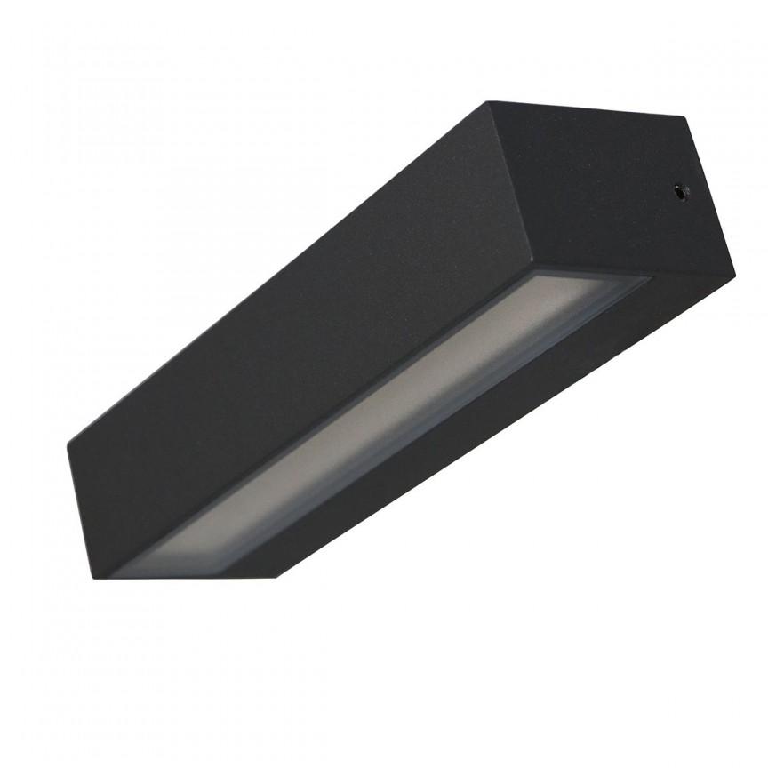 Aplica LED perete exterior IP65 TISA I gri 4000K 112972 SU, ILUMINAT EXTERIOR, Corpuri de iluminat, lustre, aplice, veioze, lampadare, plafoniere. Mobilier si decoratiuni, oglinzi, scaune, fotolii. Oferte speciale iluminat interior si exterior. Livram in toata tara.  a