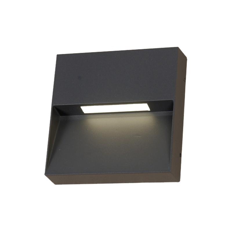 Aplica LED perete exterior ambientala IP65 KAMAL negru 2700K 113952 SU, ILUMINAT EXTERIOR, Corpuri de iluminat, lustre, aplice, veioze, lampadare, plafoniere. Mobilier si decoratiuni, oglinzi, scaune, fotolii. Oferte speciale iluminat interior si exterior. Livram in toata tara.  a