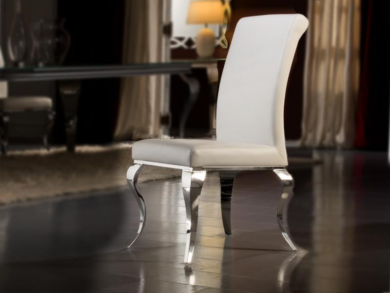 Scaun modern alb, Barroque 792538, Scaune dining , Corpuri de iluminat, lustre, aplice a