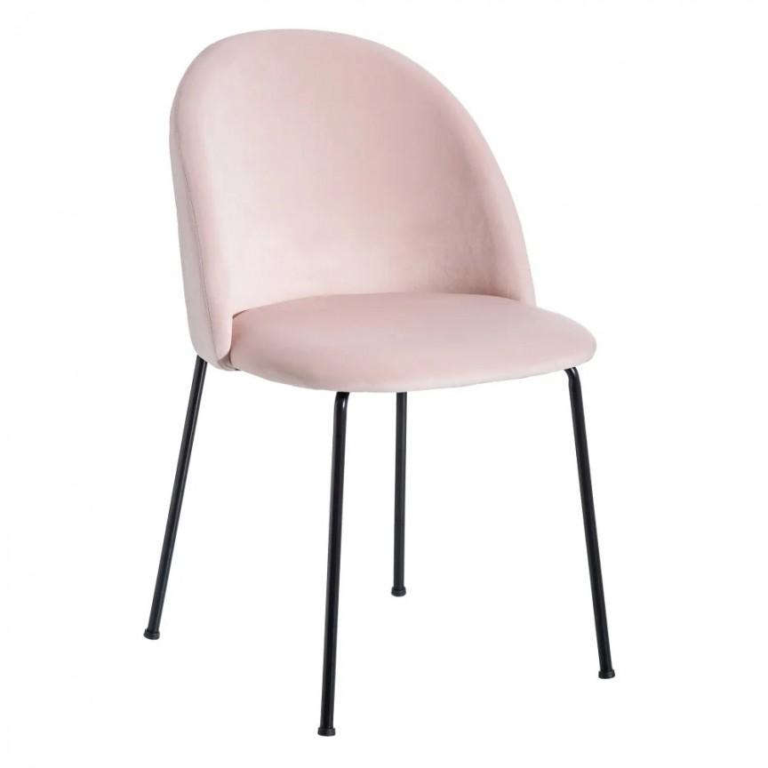 Set de 2 scaune design modern Angie, tapiterie roz deschis SX-121608, Seturi scaune dining, scaune HoReCa, Corpuri de iluminat, lustre, aplice, veioze, lampadare, plafoniere. Mobilier si decoratiuni, oglinzi, scaune, fotolii. Oferte speciale iluminat interior si exterior. Livram in toata tara.  a