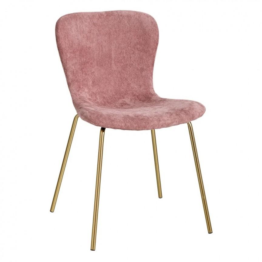 Set de 2 scaune design modern Janna, roz-auriu SX-121809, Seturi scaune dining, scaune HoReCa, Corpuri de iluminat, lustre, aplice, veioze, lampadare, plafoniere. Mobilier si decoratiuni, oglinzi, scaune, fotolii. Oferte speciale iluminat interior si exterior. Livram in toata tara.  a