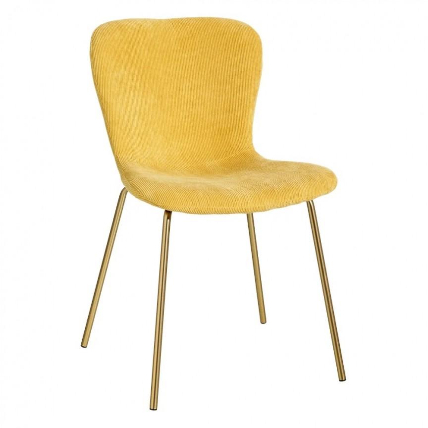 Set de 2 scaune design modern Janna, galben-auriu SX-121811, Seturi scaune dining, scaune HoReCa, Corpuri de iluminat, lustre, aplice, veioze, lampadare, plafoniere. Mobilier si decoratiuni, oglinzi, scaune, fotolii. Oferte speciale iluminat interior si exterior. Livram in toata tara.  a
