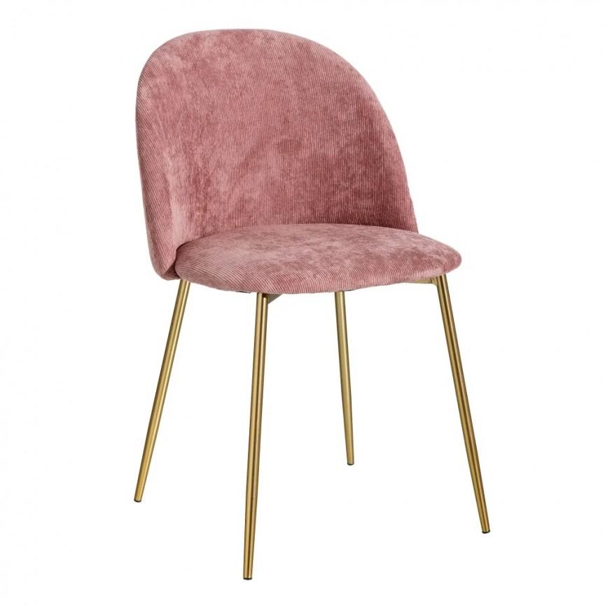 Set de 2 scaune design modern Steph, roz-auriu SX-121813, Seturi scaune dining, scaune HoReCa, Corpuri de iluminat, lustre, aplice, veioze, lampadare, plafoniere. Mobilier si decoratiuni, oglinzi, scaune, fotolii. Oferte speciale iluminat interior si exterior. Livram in toata tara.  a