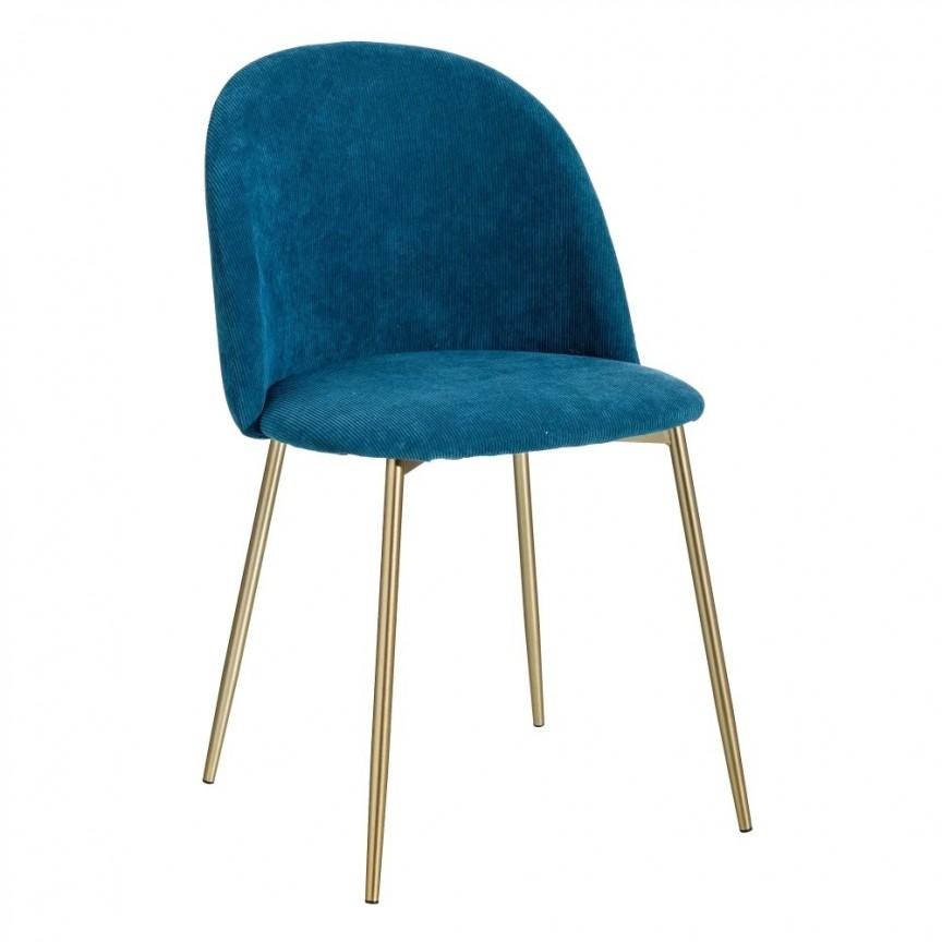 Set de 2 scaune design modern Steph, albastru-auriu SX-121816, Seturi scaune dining, scaune HoReCa, Corpuri de iluminat, lustre, aplice, veioze, lampadare, plafoniere. Mobilier si decoratiuni, oglinzi, scaune, fotolii. Oferte speciale iluminat interior si exterior. Livram in toata tara.  a