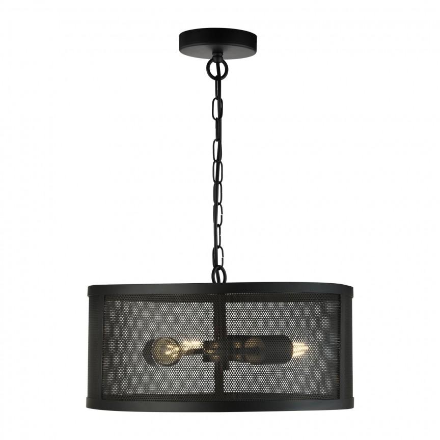 Lustra / Pendul design industrial Fishnet negru 12483-3BK SRT, NOU ! Lustre VINTAGE, RETRO, INDUSTRIA Style,  a