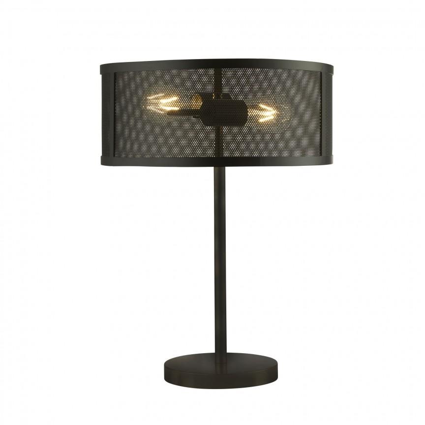 Veioza / Lampa de masa design industrial Fishnet negru EU2822-2BK SRT, NOU ! Lustre VINTAGE, RETRO, INDUSTRIA Style,  a