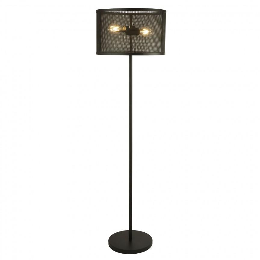 Lampadar / Lampa de podea design industrial Fishnet negru EU2832-2BK SRT, NOU ! Lustre VINTAGE, RETRO, INDUSTRIA Style,  a