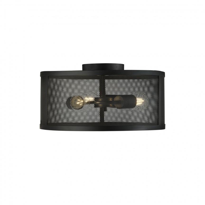 Lustra aplicata design industrial Fishnet negru 2843-3BK SRT, NOU ! Lustre VINTAGE, RETRO, INDUSTRIA Style,  a