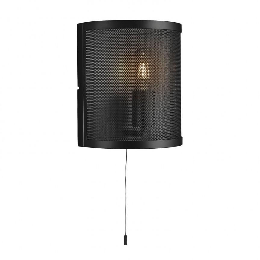 Aplica de perete design industrial Fishnet negru 2815BK SRT, NOU ! Lustre VINTAGE, RETRO, INDUSTRIA Style,  a