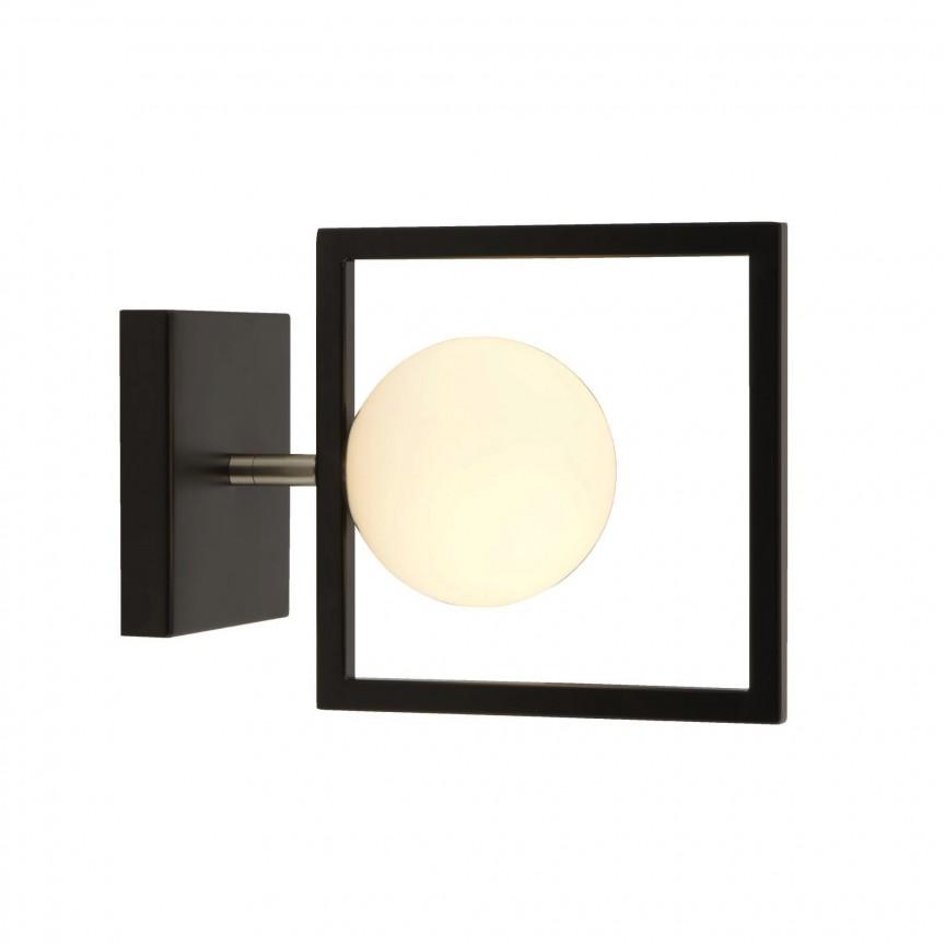 Aplica perete moderna design minimalist Rosewell 4831BK SRT, Aplice de perete moderne, Corpuri de iluminat, lustre, aplice, veioze, lampadare, plafoniere. Mobilier si decoratiuni, oglinzi, scaune, fotolii. Oferte speciale iluminat interior si exterior. Livram in toata tara.  a