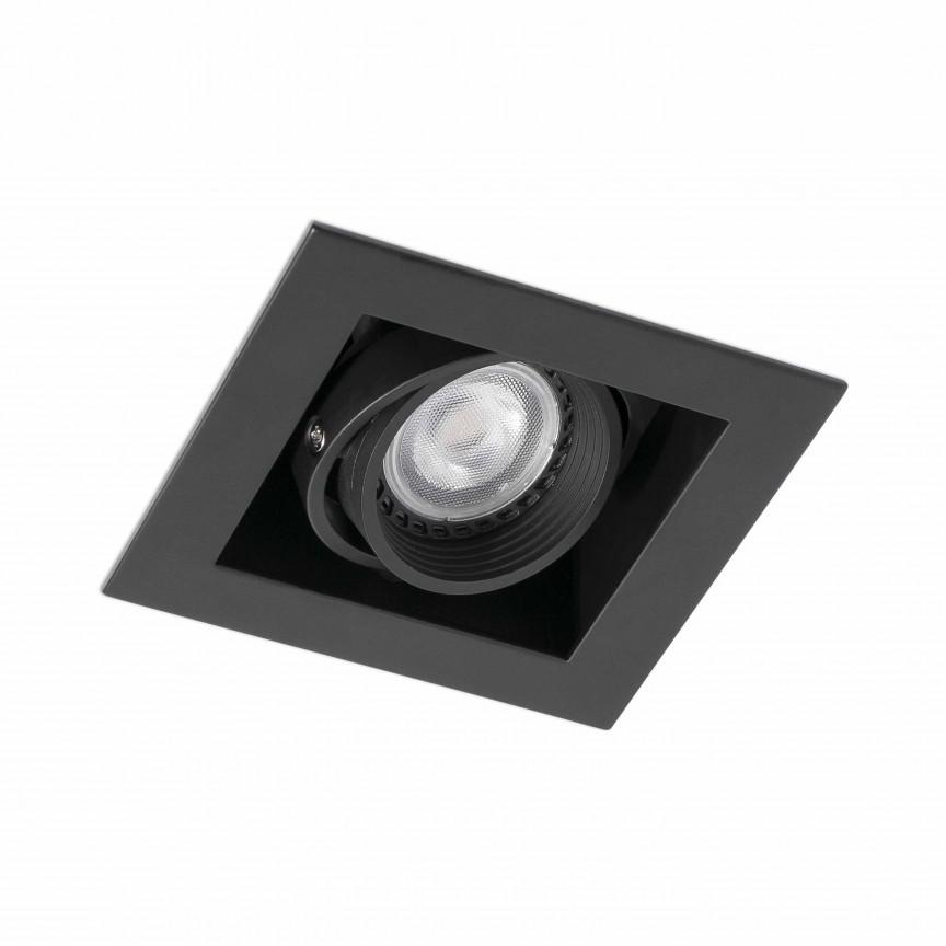 Corp incastrabil cu spot directionabil, FALCON-1 Black 03020402, Spoturi incastrate - tavan fals / perete, Corpuri de iluminat, lustre, aplice, veioze, lampadare, plafoniere. Mobilier si decoratiuni, oglinzi, scaune, fotolii. Oferte speciale iluminat interior si exterior. Livram in toata tara.  a