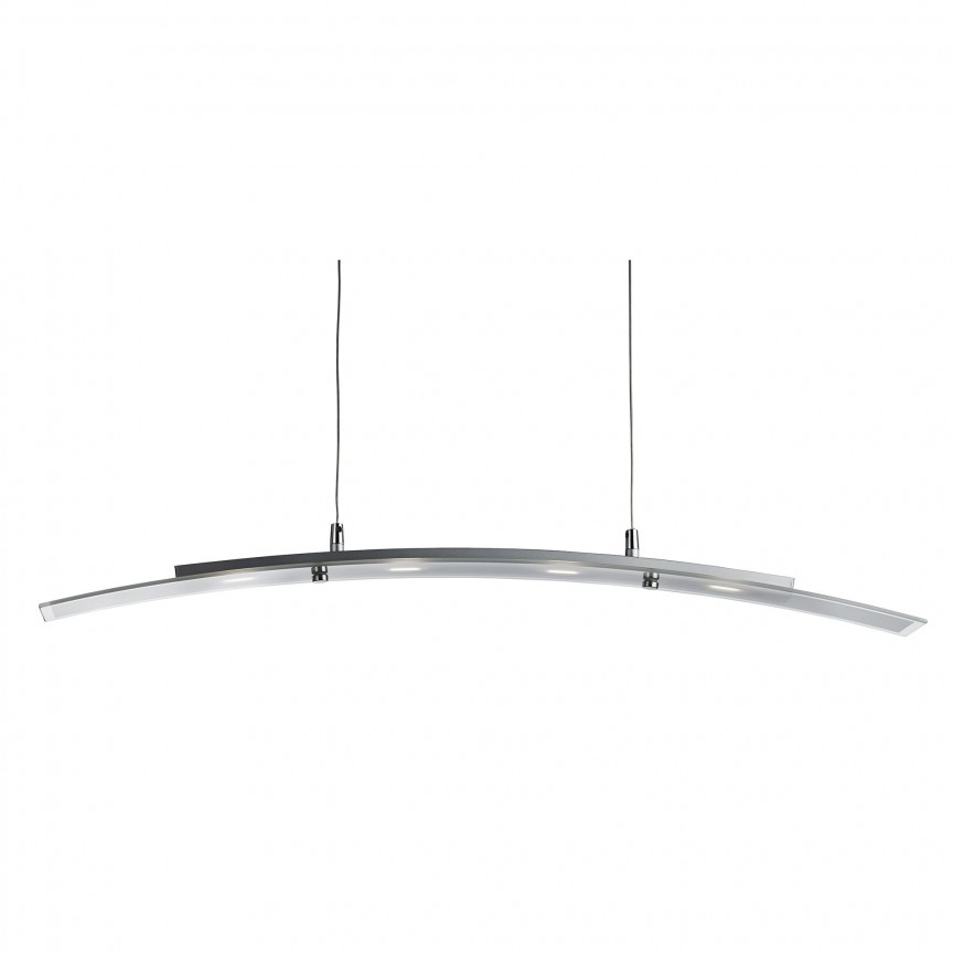 Lustra LED moderna suspendata LED Bar Lights 5064-4SS SRT, Lustre LED, Pendule LED, Corpuri de iluminat, lustre, aplice, veioze, lampadare, plafoniere. Mobilier si decoratiuni, oglinzi, scaune, fotolii. Oferte speciale iluminat interior si exterior. Livram in toata tara.  a