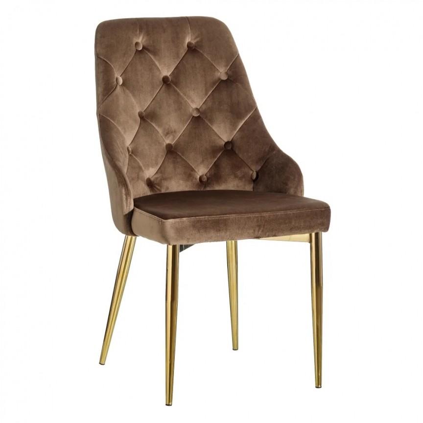Set de 2 scaune design elegant Anima, maro-auriu SX-121778, Seturi scaune dining, scaune HoReCa, Corpuri de iluminat, lustre, aplice, veioze, lampadare, plafoniere. Mobilier si decoratiuni, oglinzi, scaune, fotolii. Oferte speciale iluminat interior si exterior. Livram in toata tara.  a