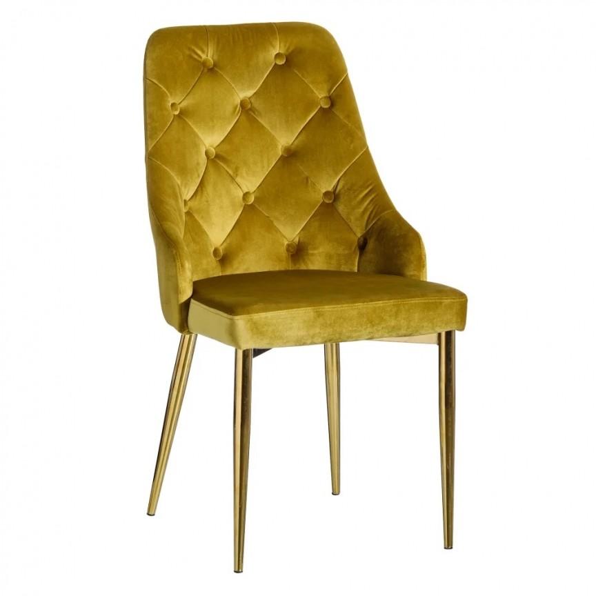 Set de 2 scaune design elegant Anima, auriu SX-121780, Seturi scaune dining, scaune HoReCa, Corpuri de iluminat, lustre, aplice, veioze, lampadare, plafoniere. Mobilier si decoratiuni, oglinzi, scaune, fotolii. Oferte speciale iluminat interior si exterior. Livram in toata tara.  a