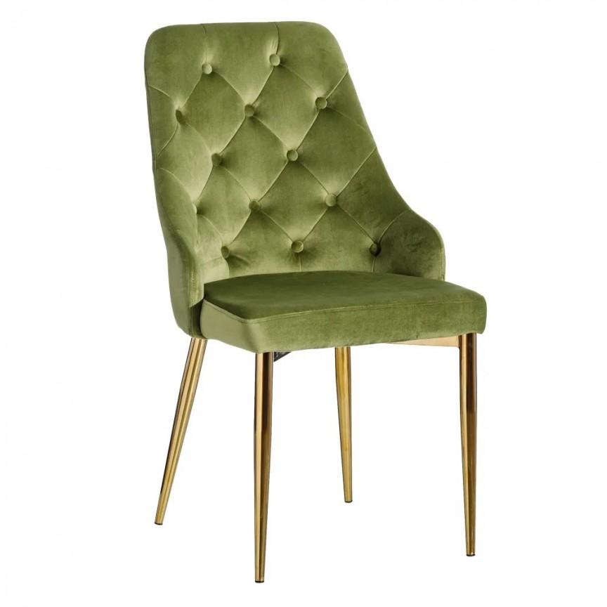 Set de 2 scaune design elegant Anima, verde-auriu SX-121781, Seturi scaune dining, scaune HoReCa, Corpuri de iluminat, lustre, aplice, veioze, lampadare, plafoniere. Mobilier si decoratiuni, oglinzi, scaune, fotolii. Oferte speciale iluminat interior si exterior. Livram in toata tara.  a