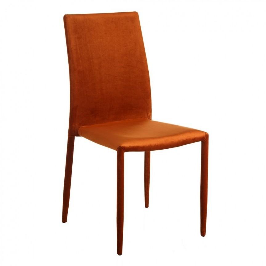 Set de 2 scaune Anteo, catifea portocalie SX-105340, Seturi scaune dining, scaune HoReCa,  a