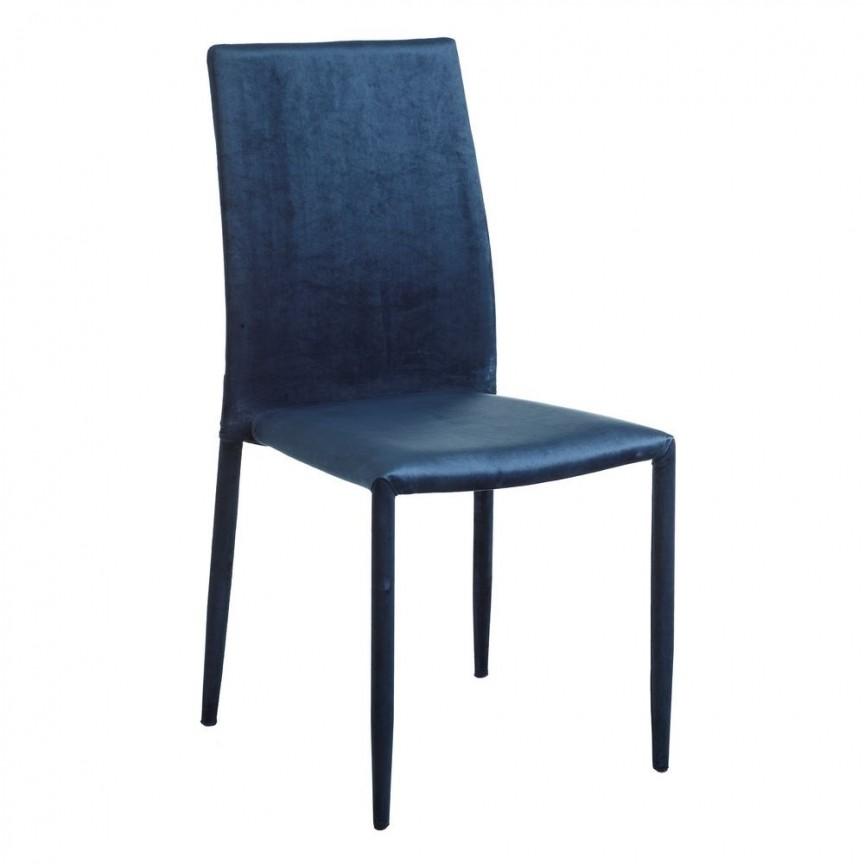 Set de 2 scaune Anteo, catifea albastra SX-105341, Seturi scaune dining, scaune HoReCa, Corpuri de iluminat, lustre, aplice, veioze, lampadare, plafoniere. Mobilier si decoratiuni, oglinzi, scaune, fotolii. Oferte speciale iluminat interior si exterior. Livram in toata tara.  a