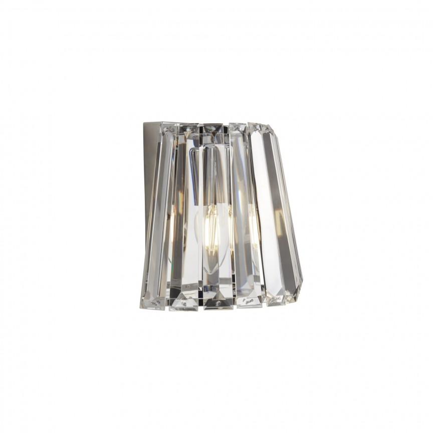 Aplica moderna design elegant Tiara 2891-1CC SRT, Aplice de perete moderne, Corpuri de iluminat, lustre, aplice, veioze, lampadare, plafoniere. Mobilier si decoratiuni, oglinzi, scaune, fotolii. Oferte speciale iluminat interior si exterior. Livram in toata tara.  a