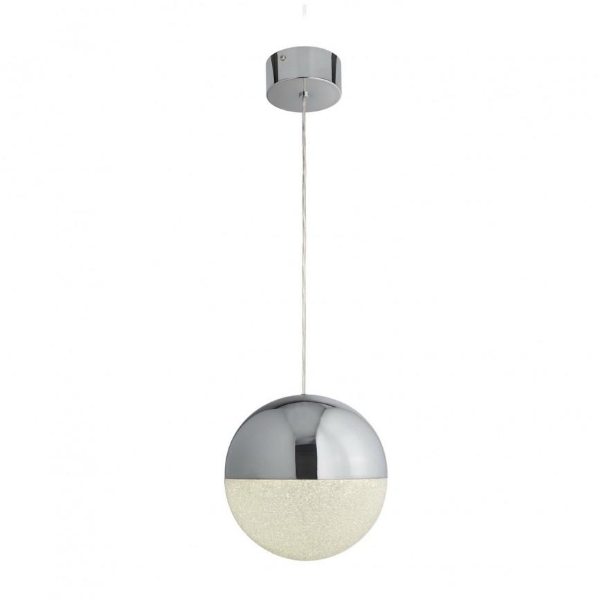 Pendul LED design modern Ø25cm Marbles 5881CC SRT, Lustre LED, Pendule LED, Corpuri de iluminat, lustre, aplice, veioze, lampadare, plafoniere. Mobilier si decoratiuni, oglinzi, scaune, fotolii. Oferte speciale iluminat interior si exterior. Livram in toata tara.  a