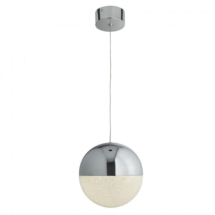 Pendul LED design modern Ø20cm Marbles 5841CC SRT, Lustre LED, Pendule LED, Corpuri de iluminat, lustre, aplice, veioze, lampadare, plafoniere. Mobilier si decoratiuni, oglinzi, scaune, fotolii. Oferte speciale iluminat interior si exterior. Livram in toata tara.  a