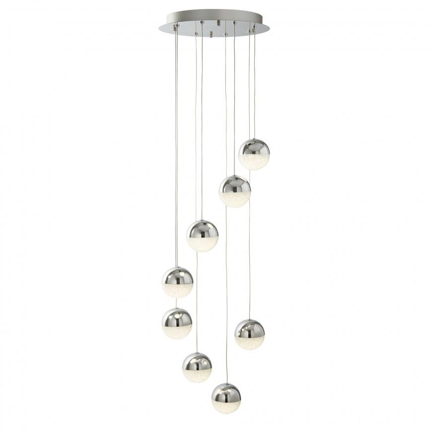 Lustra LED design modern Ø35cm Marbles 8L 5848-8CC SRT, Lustre LED, Pendule LED, Corpuri de iluminat, lustre, aplice, veioze, lampadare, plafoniere. Mobilier si decoratiuni, oglinzi, scaune, fotolii. Oferte speciale iluminat interior si exterior. Livram in toata tara.  a