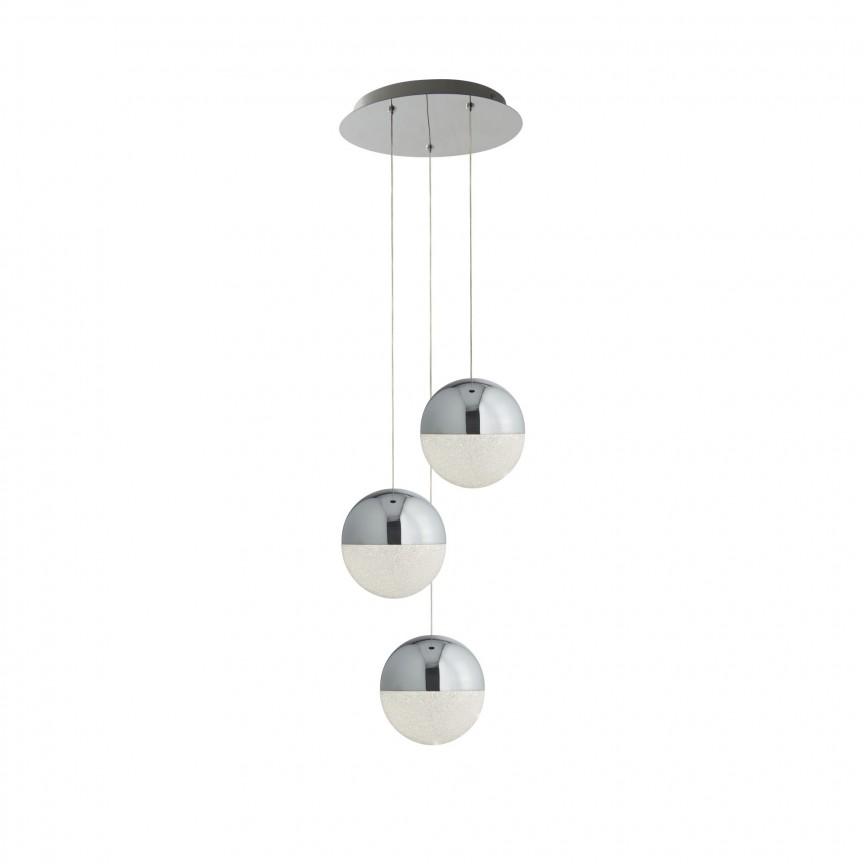 Lustra LED design modern Ø35cm Marbles 3L 5842-3CC SRT, Lustre LED, Pendule LED, Corpuri de iluminat, lustre, aplice, veioze, lampadare, plafoniere. Mobilier si decoratiuni, oglinzi, scaune, fotolii. Oferte speciale iluminat interior si exterior. Livram in toata tara.  a