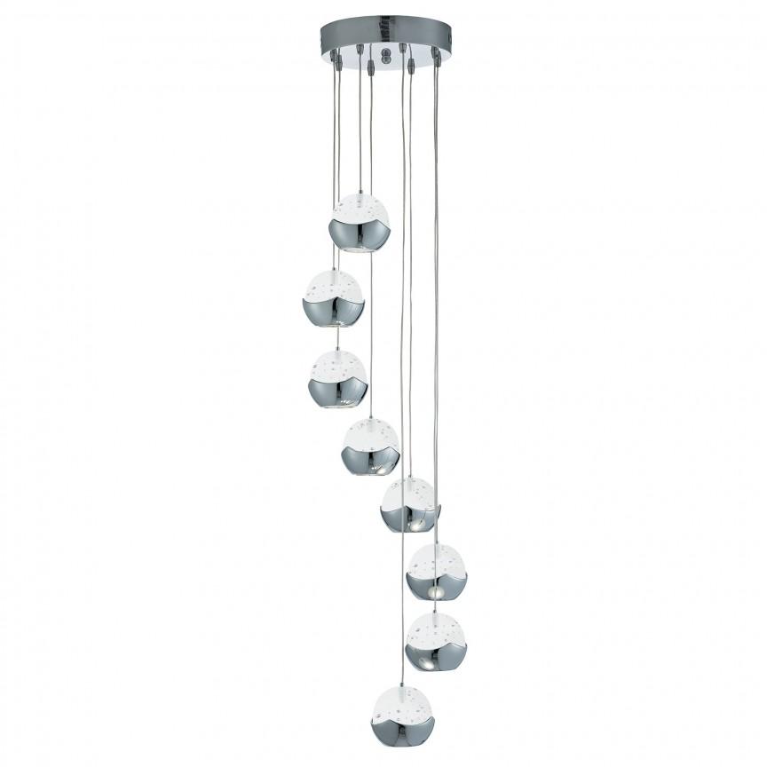 Lustra LED design ultra-modern Ø32cm Iceball 8L 7358-8CC SRT, Lustre LED, Pendule LED, Corpuri de iluminat, lustre, aplice, veioze, lampadare, plafoniere. Mobilier si decoratiuni, oglinzi, scaune, fotolii. Oferte speciale iluminat interior si exterior. Livram in toata tara.  a