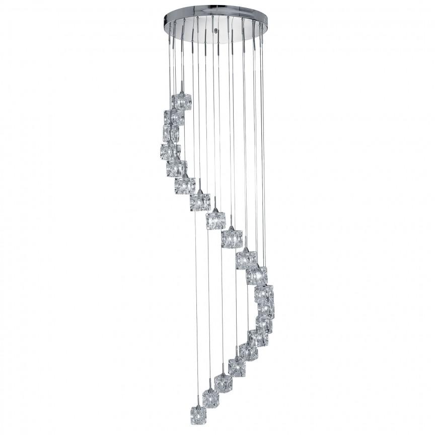 Lustra LED casa scarii design modern Ice Cube H-3M 7820-20-LED SRT, Lustre casa scarii, Corpuri de iluminat, lustre, aplice, veioze, lampadare, plafoniere. Mobilier si decoratiuni, oglinzi, scaune, fotolii. Oferte speciale iluminat interior si exterior. Livram in toata tara.  a