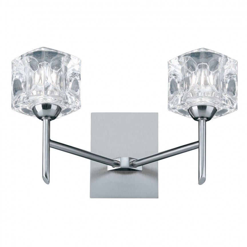 Aplica de perete LED design modern Ice Cube 4342-2-LED SRT, Aplice de perete LED, Corpuri de iluminat, lustre, aplice, veioze, lampadare, plafoniere. Mobilier si decoratiuni, oglinzi, scaune, fotolii. Oferte speciale iluminat interior si exterior. Livram in toata tara.  a