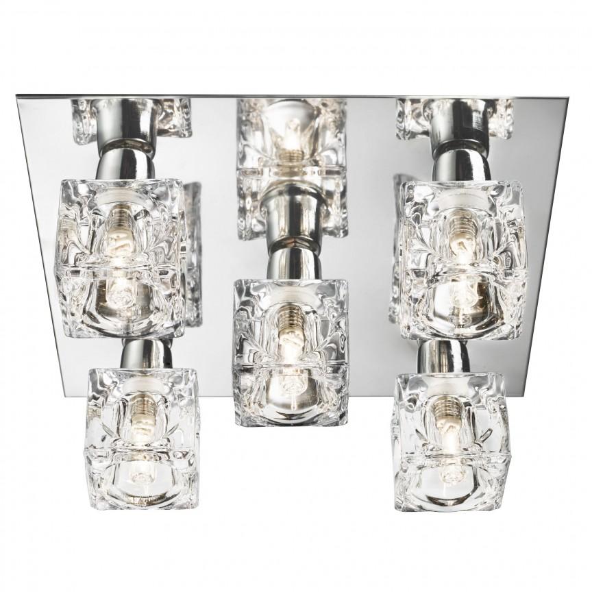 Plafoniera LED design modern Ice Cube 2275-5-LED SRT, Plafoniere LED, Spoturi LED, Corpuri de iluminat, lustre, aplice, veioze, lampadare, plafoniere. Mobilier si decoratiuni, oglinzi, scaune, fotolii. Oferte speciale iluminat interior si exterior. Livram in toata tara.  a