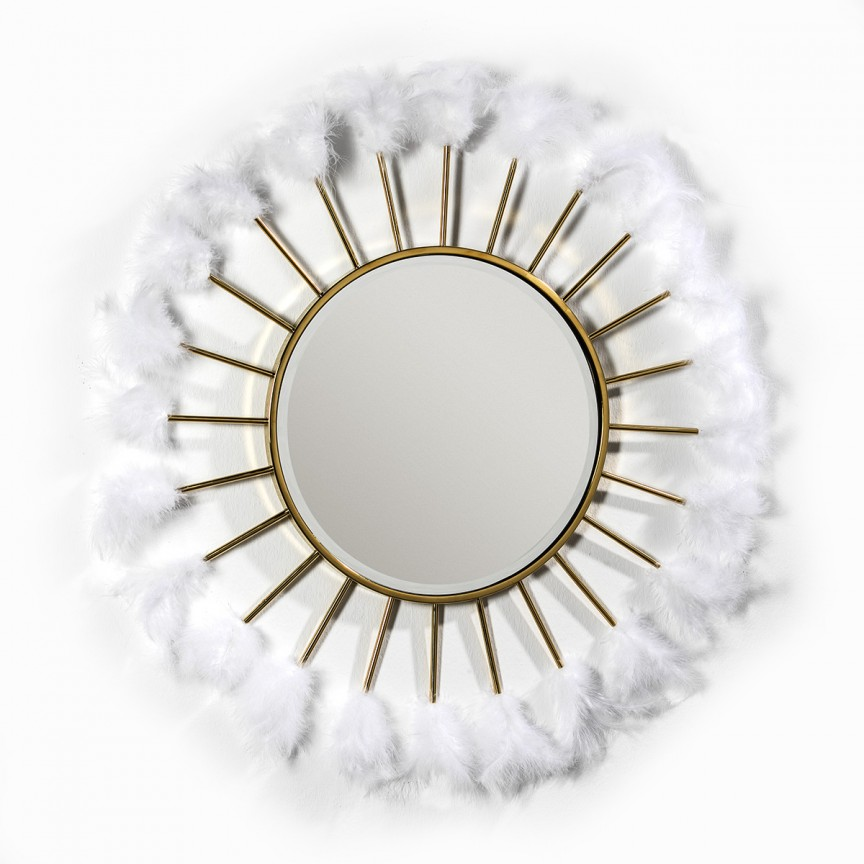 Oglinda decorativa design deosebit Feathers, 103cm 36639/00 TN, Oglinzi decorative,  a