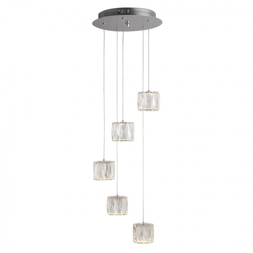 Lustra LED design modern Maxim 5L 7765-5CC SRT, Lustre LED, Pendule LED, Corpuri de iluminat, lustre, aplice, veioze, lampadare, plafoniere. Mobilier si decoratiuni, oglinzi, scaune, fotolii. Oferte speciale iluminat interior si exterior. Livram in toata tara.  a