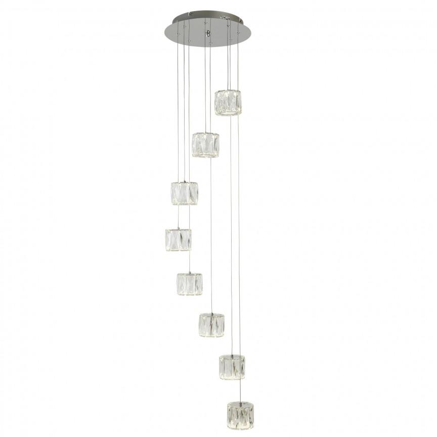 Lustra LED design modern Maxim 8L 7768-8CC SRT, Lustre LED, Pendule LED, Corpuri de iluminat, lustre, aplice, veioze, lampadare, plafoniere. Mobilier si decoratiuni, oglinzi, scaune, fotolii. Oferte speciale iluminat interior si exterior. Livram in toata tara.  a
