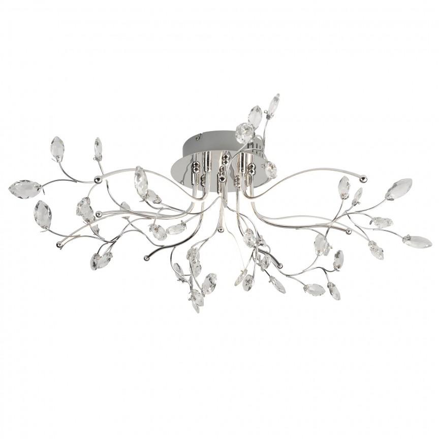 Lustra LED aplicata design elegant Willow 8635-5CC SRT, Plafoniere LED, Spoturi LED, Corpuri de iluminat, lustre, aplice, veioze, lampadare, plafoniere. Mobilier si decoratiuni, oglinzi, scaune, fotolii. Oferte speciale iluminat interior si exterior. Livram in toata tara.  a