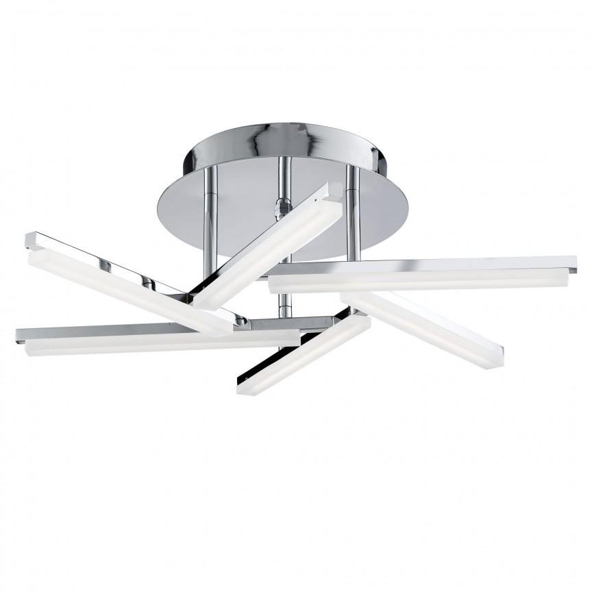 Lustra LED aplicata design modern Lina 18W 9006-6CC SRT, Plafoniere LED, Spoturi LED, Corpuri de iluminat, lustre, aplice, veioze, lampadare, plafoniere. Mobilier si decoratiuni, oglinzi, scaune, fotolii. Oferte speciale iluminat interior si exterior. Livram in toata tara.  a