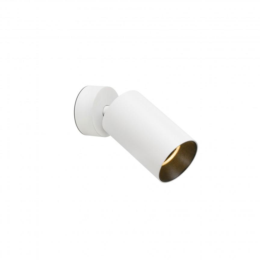 Aplica cu spot tip proiector STAN White 43722, Spoturi aplicate - tavan / perete, Corpuri de iluminat, lustre, aplice, veioze, lampadare, plafoniere. Mobilier si decoratiuni, oglinzi, scaune, fotolii. Oferte speciale iluminat interior si exterior. Livram in toata tara.  a