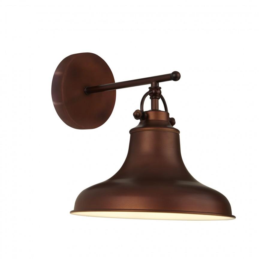 Aplica de perete design industrial Dallas maro antique 3010BZ SRT, NOU ! Lustre VINTAGE, RETRO, INDUSTRIA Style, Corpuri de iluminat, lustre, aplice, veioze, lampadare, plafoniere. Mobilier si decoratiuni, oglinzi, scaune, fotolii. Oferte speciale iluminat interior si exterior. Livram in toata tara.  a