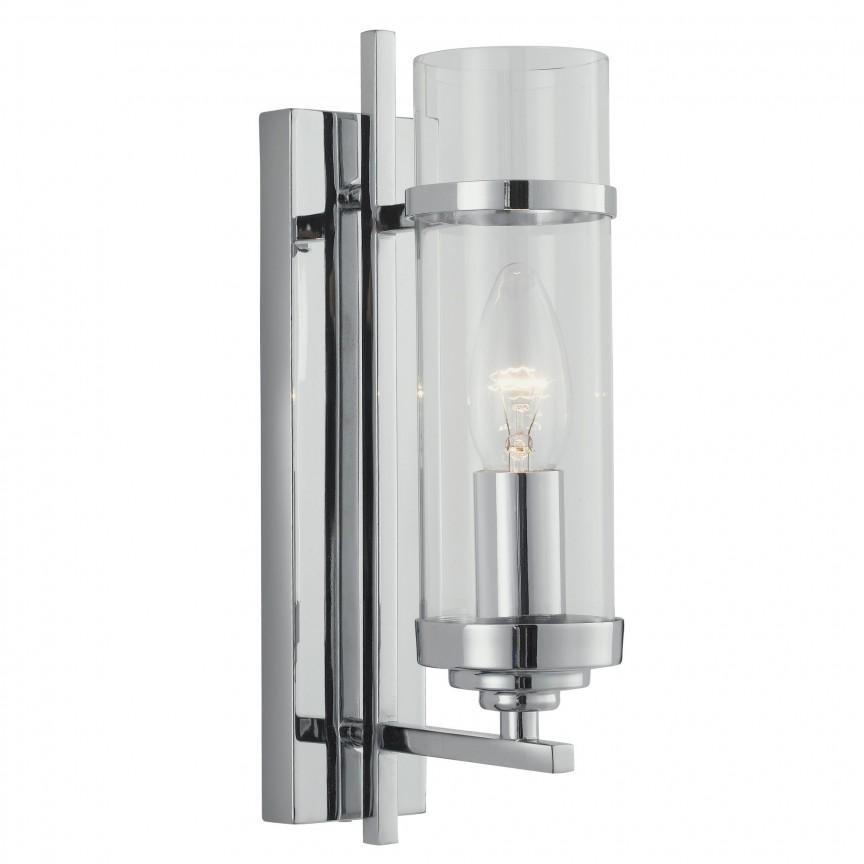 Aplica de perete eleganta design modern Milo 3091-1CC SRT, Aplice de perete moderne, Corpuri de iluminat, lustre, aplice, veioze, lampadare, plafoniere. Mobilier si decoratiuni, oglinzi, scaune, fotolii. Oferte speciale iluminat interior si exterior. Livram in toata tara.  a