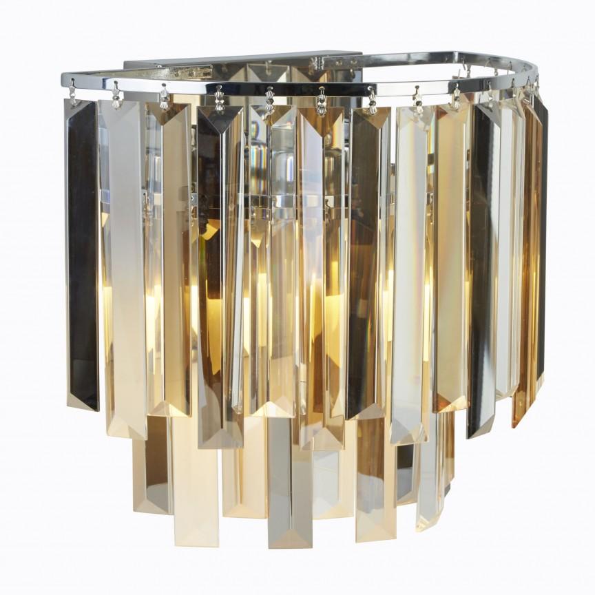 Aplica de perete eleganta design modern Clarissa 9832-2CC SRT, Aplice de perete moderne, Corpuri de iluminat, lustre, aplice, veioze, lampadare, plafoniere. Mobilier si decoratiuni, oglinzi, scaune, fotolii. Oferte speciale iluminat interior si exterior. Livram in toata tara.  a