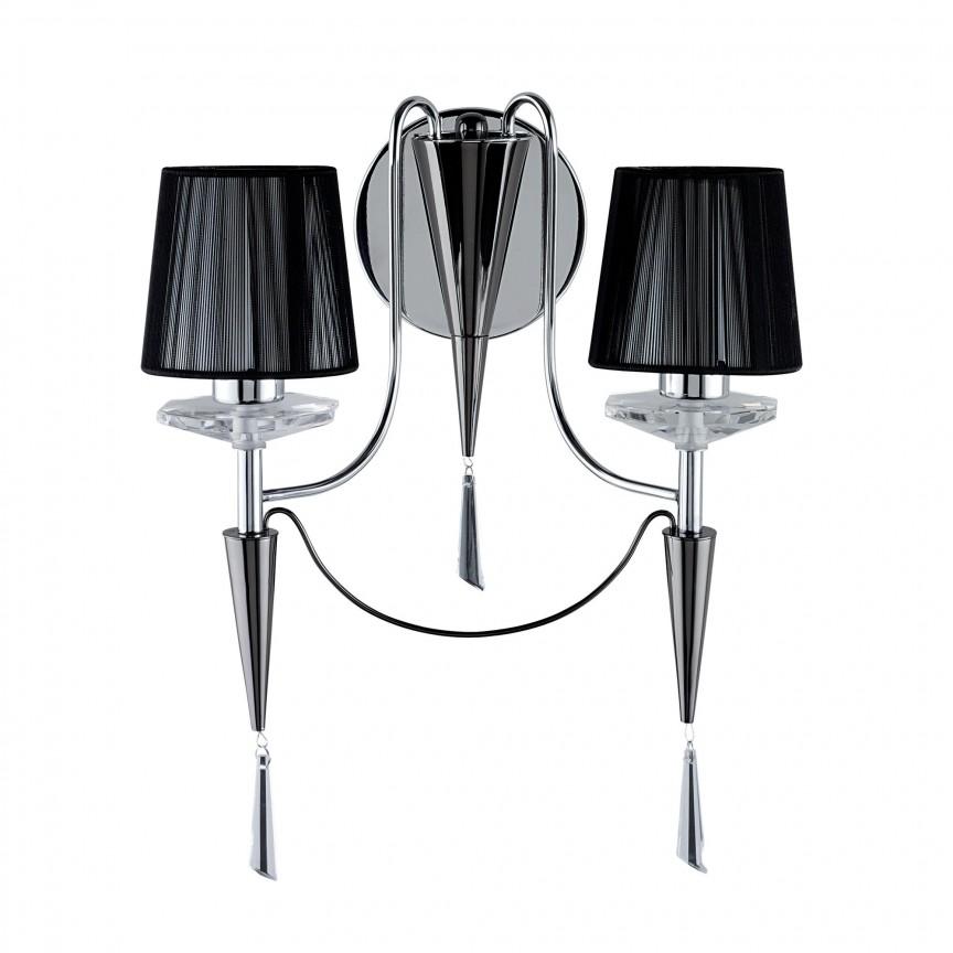 Aplica de perete eleganta design modern Duchess 2082-2CC SRT, Aplice de perete moderne, Corpuri de iluminat, lustre, aplice, veioze, lampadare, plafoniere. Mobilier si decoratiuni, oglinzi, scaune, fotolii. Oferte speciale iluminat interior si exterior. Livram in toata tara.  a
