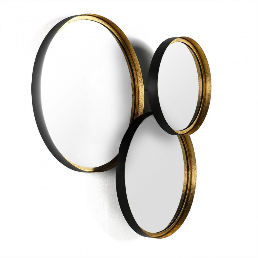 Oglinda decorativa, Karlie auriu/negru 31764/00 TN, Oglinzi decorative , moderne✅ decoratiuni de perete cu oglinda⭐ modele mari si rotunde pentru Hol, Living, Dormitor si Baie.❤️Promotii la oglinzi cu design decorativ❗ Intra si vezi poze ✚ pret ➽ www.evalight.ro. ➽ sursa ta de inspiratie online❗ Alege oglinzi deosebite Art Deco de lux pentru decorare casa, fabricate de branduri renumite. Aici gasesti cele mai frumoase si rafinate obiecte de decor cu stil contemporan unicat, oglinzi elegante cu suport de prindere pe perete, de masa sau de podea potrivite pt dresing, cu rama din metal cu aspect antichizat sau lemn de culoare aurie, sticla argintie in diferite forme: oglinzi in forma de soare, hexagonale tip fagure hexagon, ovale, patrate mici, rectangulara sau dreptunghiulara, design original exclusivist: industrial style, retro, vintage (produse manual handmade), scandinav nordic, clasic, baroc, glamour, romantic, rustic, minimalist. Tendinte si idei actuale de designer pentru amenajari interioare premium Top 2020❗ Oferte si reduceri speciale cu vanzare rapida din stoc, oglinzi de calitate la cel mai bun pret. a