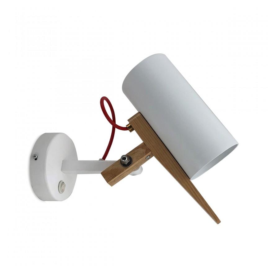 Aplica de perete directionabila Wood 18116/AP TN, Spoturi - iluminat - cu 1 spot, Corpuri de iluminat, lustre, aplice, veioze, lampadare, plafoniere. Mobilier si decoratiuni, oglinzi, scaune, fotolii. Oferte speciale iluminat interior si exterior. Livram in toata tara.  a
