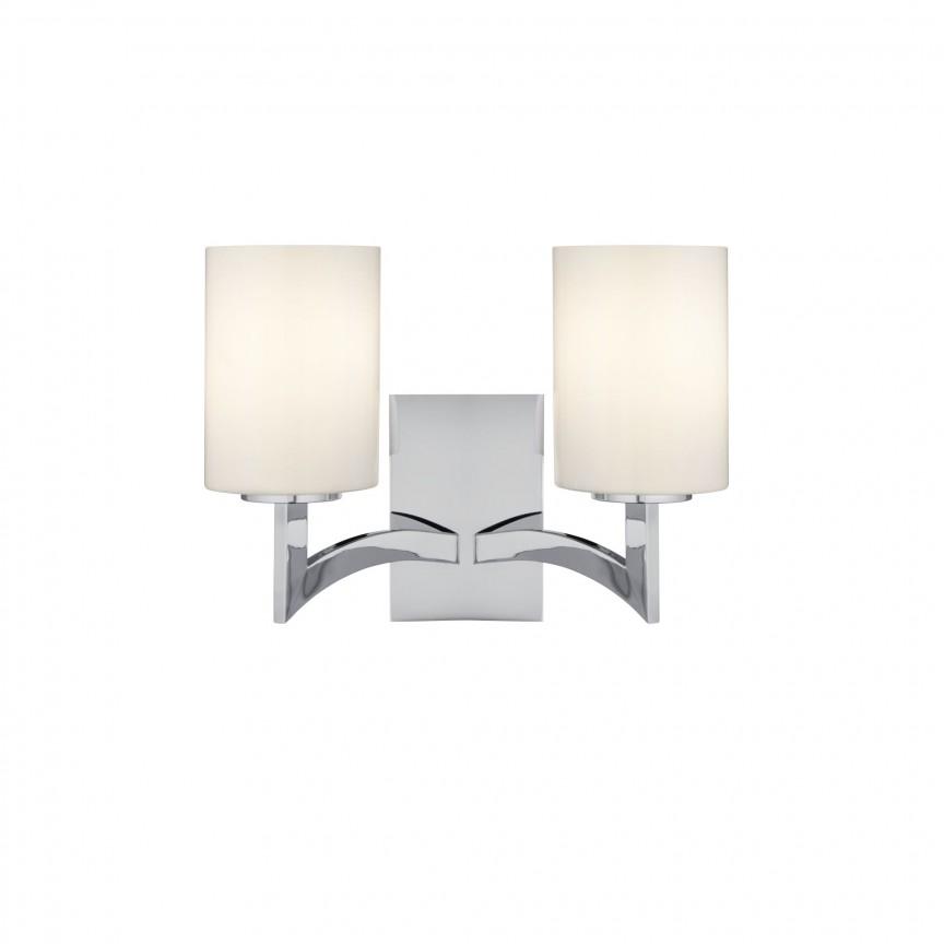 Aplica de perete design modern Gina 4992-2CC SRT, Aplice de perete moderne, Corpuri de iluminat, lustre, aplice, veioze, lampadare, plafoniere. Mobilier si decoratiuni, oglinzi, scaune, fotolii. Oferte speciale iluminat interior si exterior. Livram in toata tara.  a