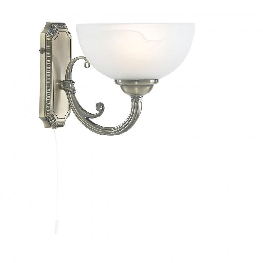 Aplica de perete traditionala stil clasic Windsor 3771-1AB SRT, Aplice de perete LED, Corpuri de iluminat, lustre, aplice, veioze, lampadare, plafoniere. Mobilier si decoratiuni, oglinzi, scaune, fotolii. Oferte speciale iluminat interior si exterior. Livram in toata tara.  a