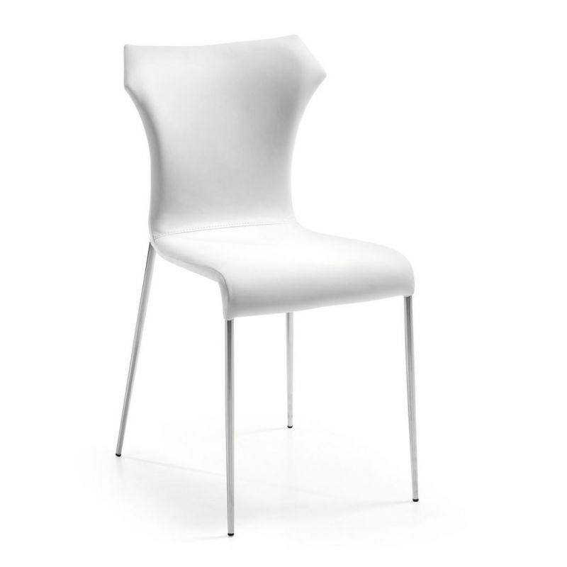 Scaun design modern TREVOR alb C377U05 JG, Scaune dining , Corpuri de iluminat, lustre, aplice, veioze, lampadare, plafoniere. Mobilier si decoratiuni, oglinzi, scaune, fotolii. Oferte speciale iluminat interior si exterior. Livram in toata tara.  a