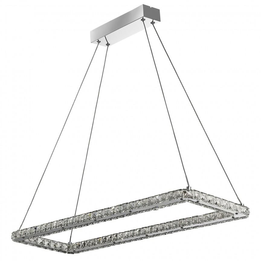 Lustra LED suspendata design elegant Clover 30W 7012CC SRT, Lustre LED, Pendule LED, Corpuri de iluminat, lustre, aplice, veioze, lampadare, plafoniere. Mobilier si decoratiuni, oglinzi, scaune, fotolii. Oferte speciale iluminat interior si exterior. Livram in toata tara.  a