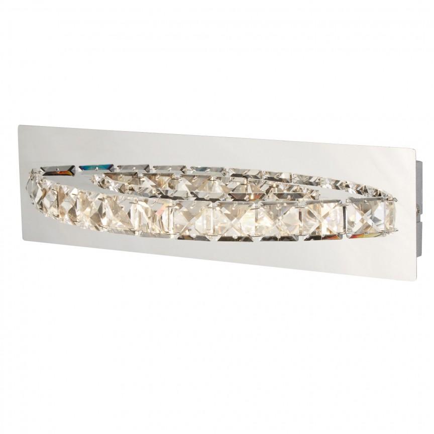 Aplica de perete LED moderna design elegant Clover 6002CC SRT, Aplice de perete LED, Corpuri de iluminat, lustre, aplice, veioze, lampadare, plafoniere. Mobilier si decoratiuni, oglinzi, scaune, fotolii. Oferte speciale iluminat interior si exterior. Livram in toata tara.  a