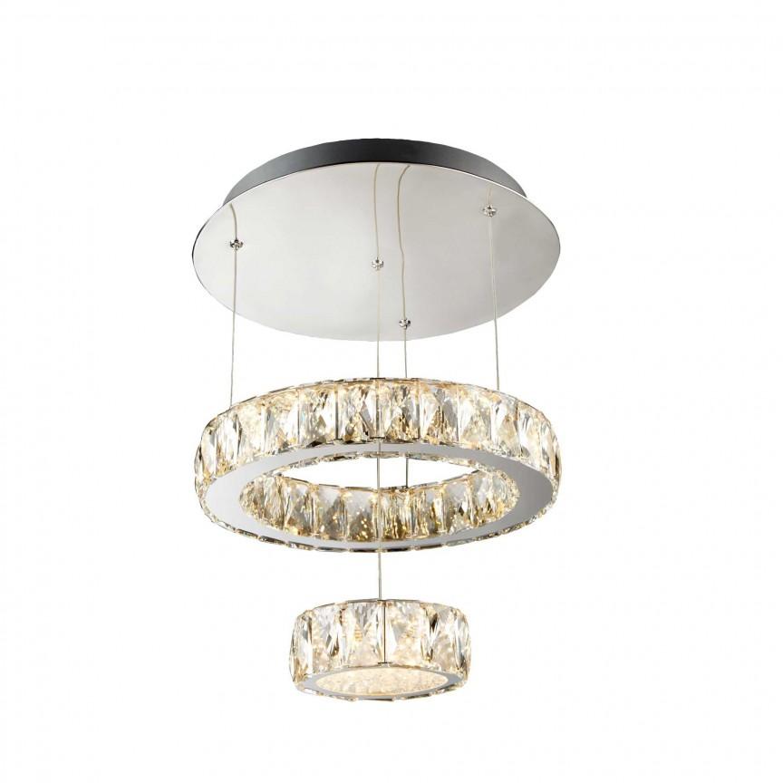 Lustra LED moderna suspendata Clover 2328CC SRT, Lustre LED, Pendule LED, Corpuri de iluminat, lustre, aplice, veioze, lampadare, plafoniere. Mobilier si decoratiuni, oglinzi, scaune, fotolii. Oferte speciale iluminat interior si exterior. Livram in toata tara.  a