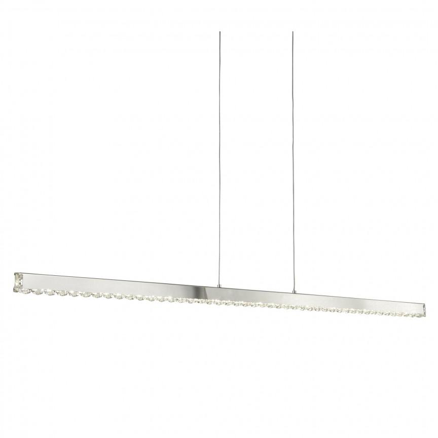 Lustra LED moderna suspendata Clover 7005CC SRT, Lustre LED, Pendule LED, Corpuri de iluminat, lustre, aplice, veioze, lampadare, plafoniere. Mobilier si decoratiuni, oglinzi, scaune, fotolii. Oferte speciale iluminat interior si exterior. Livram in toata tara.  a