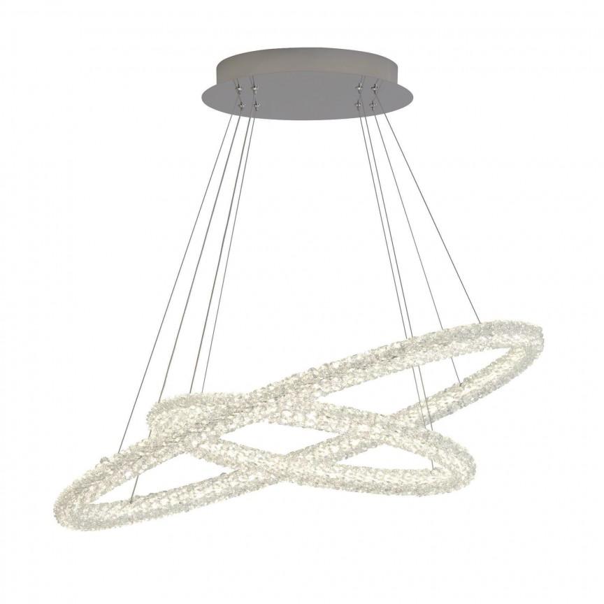Lustra LED moderna suspendata Circle 60W 42610-2CC SRT, Lustre LED, Pendule LED, Corpuri de iluminat, lustre, aplice, veioze, lampadare, plafoniere. Mobilier si decoratiuni, oglinzi, scaune, fotolii. Oferte speciale iluminat interior si exterior. Livram in toata tara.  a